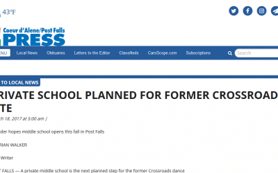 CDA Press: Private school planned for former Crossroads site